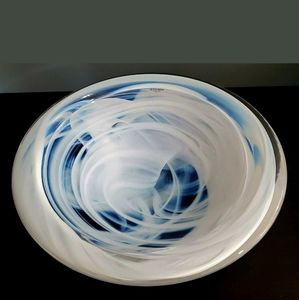 KOSTA BODA LARGE WHITE ATOLL BOWL SIGNED 12IN MSRP